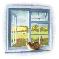 Cottage Window by John Clayton - Outlooks - Heritage Stitchcraft